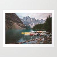 Lake Moraine Art Print