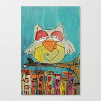 Urban Owl  Canvas Print