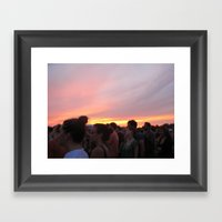Love Like A Sunset Framed Art Print
