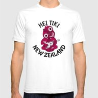 Pink Hei Tiki With Ukule… Mens Fitted Tee White SMALL