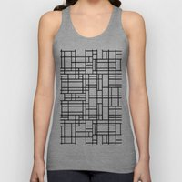 Map Outline Black on White  Unisex Tank Top