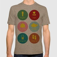 Wes Anderson Mens Fitted Tee Tri-Coffee SMALL