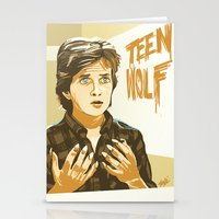 teen wolf Stationery Cards featuring Teen Wolf by IBTrav