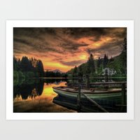 Spring Sunset On Loch Ard Art Print