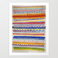 TRIBAL CRAYON / Art Print