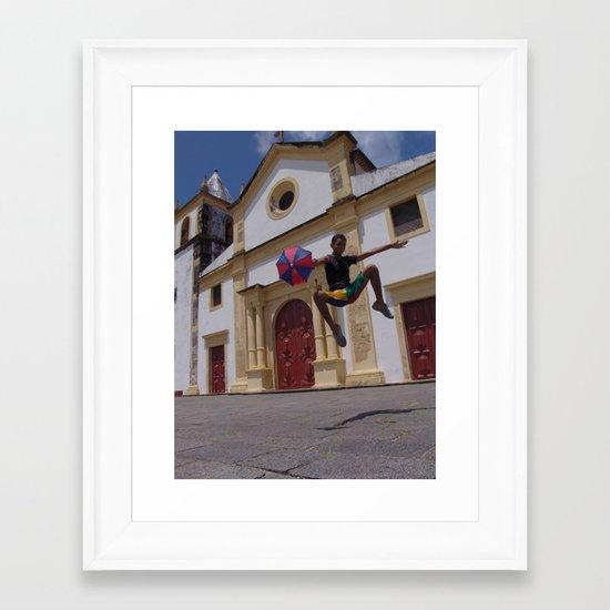Frevo flight Framed Art Print