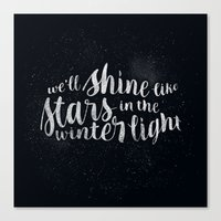 Shine Like Stars - Winte… Canvas Print