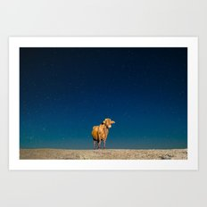 Space Cow Art Print