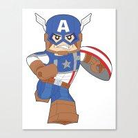 Lego Captain Canvas Print