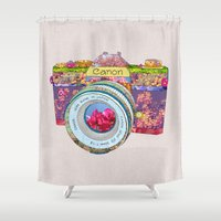 Floral Canon Shower Curtain