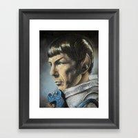 Spock - The Pain of Loss (Star Trek TOS) Framed Art Print