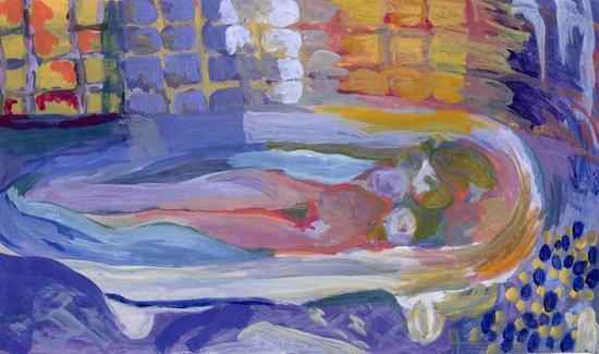Study of Pierre Bonnard's Nude in the bath Art Print