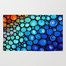 Abstract 2 - Colorful Original Painting by Sharon Cummings.  Labor Of Love series Rug