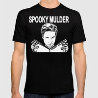 Spooky Mulder (black) Mens Fitted Tee Black SMALL