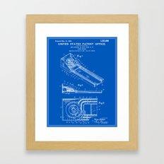 Skee Ball Patent - Blueprint Framed Art Print