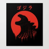 Kaiju Regeneration Canvas Print