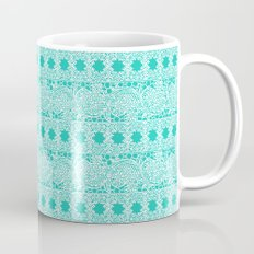 Lacey Lace - White Teal Mug