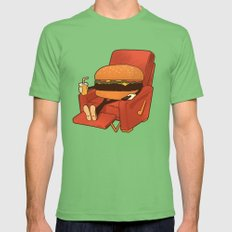 Lunch Break. Mens Fitted Tee Grass SMALL