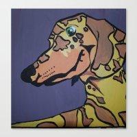 Charlie Rex Boomerang Canvas Print