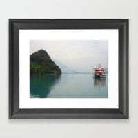 Smooth Waters Framed Art Print