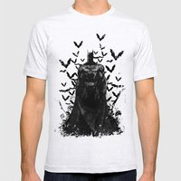 The night rises B&W Mens Fitted Tee Ash Grey SMALL