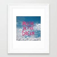 Breathe in the Dream...(pink) Framed Art Print