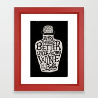 Wine In The Belly Framed Art Print