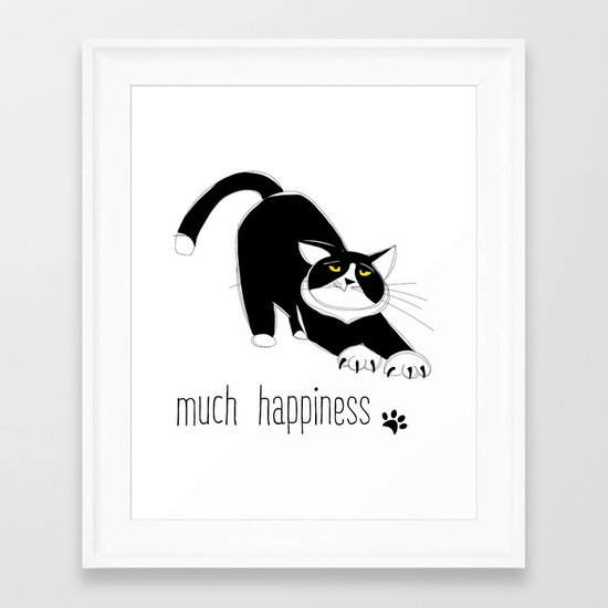 Much Happiness! Framed Art Print