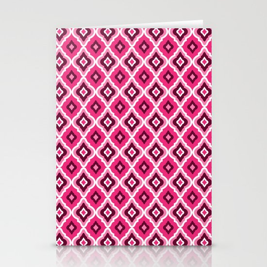 Morrocan Manor in Pink Stationery Card
