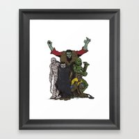 The Demonsterables (no text) Framed Art Print