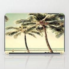 Retro Vintage Palm Tree with Hawaii Summer Sea Beach iPad Case