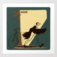 Flying Boy Art Print