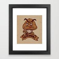 Goomba Framed Art Print