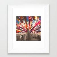 Framed Art Print featuring Superstar New York by Bianca Green