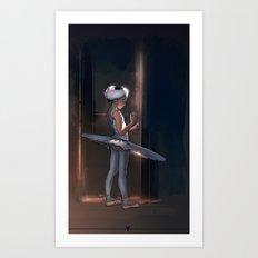 Ballet Dancer #1 Art Print