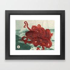 Octopus Beach Framed Art Print