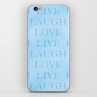 Love Laugh And Live Blue iPhone & iPod Skin
