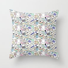 Kawaii Art Supplies Throw Pillow