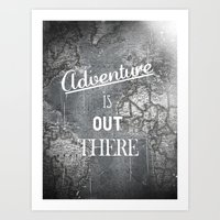 adventure Art Prints featuring Adventure by Zach Terrell