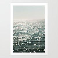Ocean Diamonds 01 Art Print
