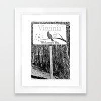 Virginia is for Lovers! Framed Art Print