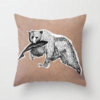 Bear 3 Throw Pillow
