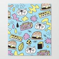 Cat Jams Canvas Print