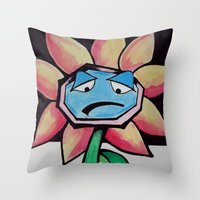 Barry the Bipolar marigold  Throw Pillow
