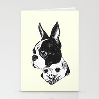 Dog - Tattooed BostonTer… Stationery Cards