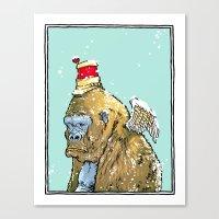 Winged Gorilla Canvas Print
