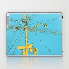 Cables and wires over Queen and Bathurst Laptop & iPad Skin