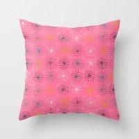 seedheads pink Throw Pillow