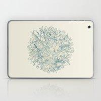 Denim flower circle Laptop & iPad Skin