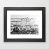 A Relaxing Day At The Beach Framed Art Print